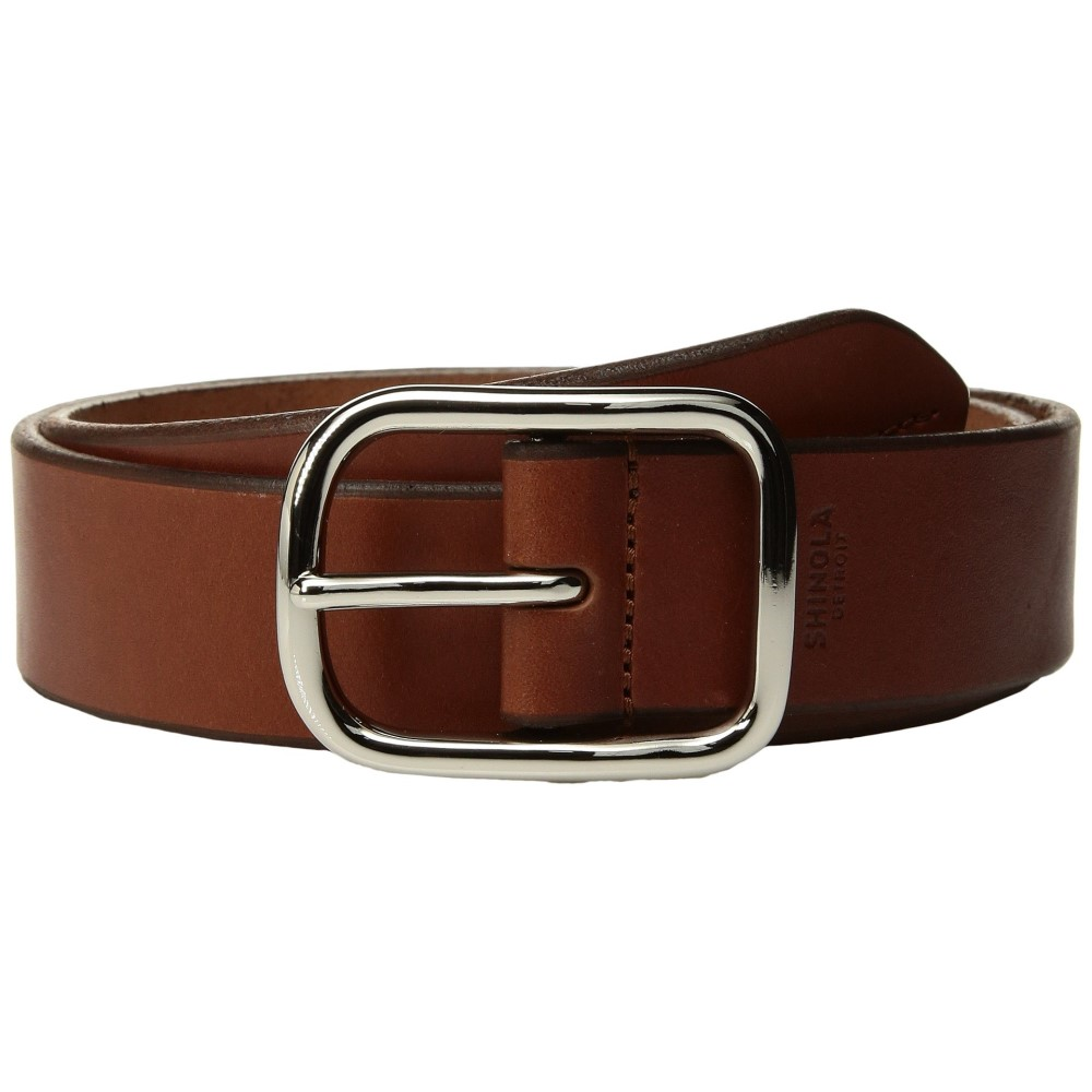 シャイノーラ メンズ ベルト【Bridle 1 1/2 Center Bar Beveled Edge Belt】Bourbon