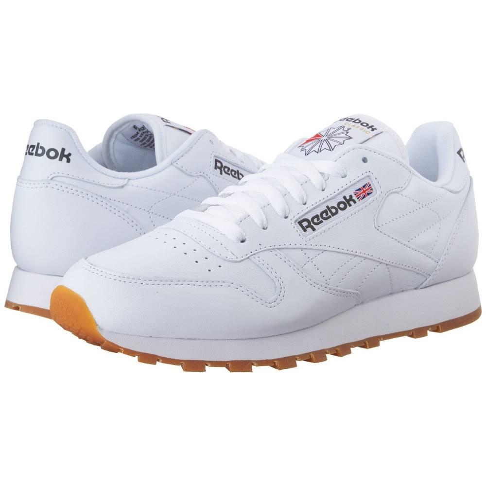 セール特価 リーボック メンズ シューズ 靴 至上 スニーカー White サイズ交換無料 Gum Leather Classic