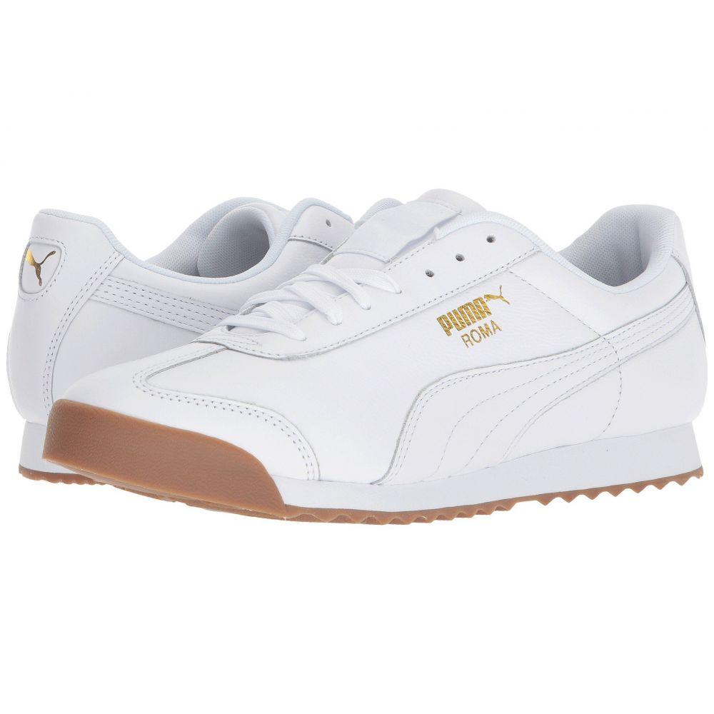 プーマ メンズ シューズ・靴 スニーカー【Roma Classic Gum】Puma White/Puma Team Gold
