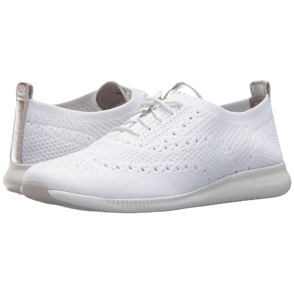 コールハーン レディース シューズ・靴 スニーカー【2.Zerogrand Stitchlite Oxford】Optic White Knit/Cole Haan Argento Metallic/Optic White