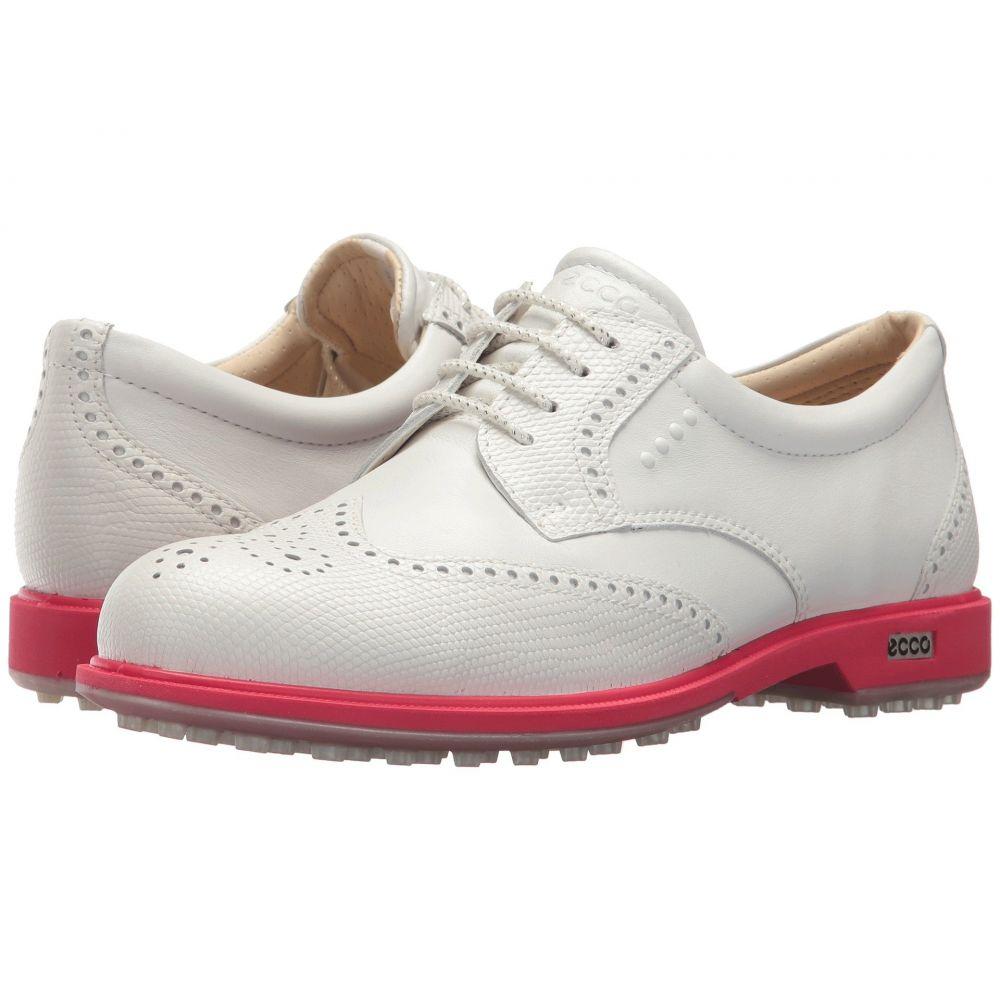 エコー レディース ゴルフ シューズ・靴【Classic Golf Hybrid】White/Teaberry