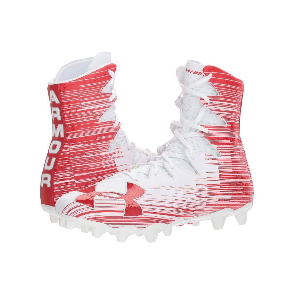 アンダーアーマー メンズ アメリカンフットボール シューズ・靴【UA Highlight MC】White/Red