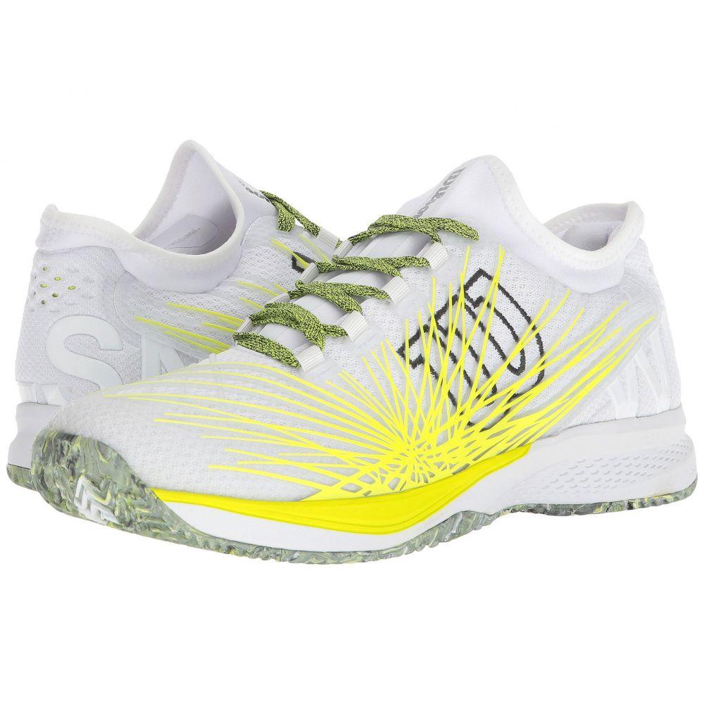 ウィルソン メンズ テニス シューズ・靴【Kaos 2.0 SFT】White/Safety Yellow/Ebony