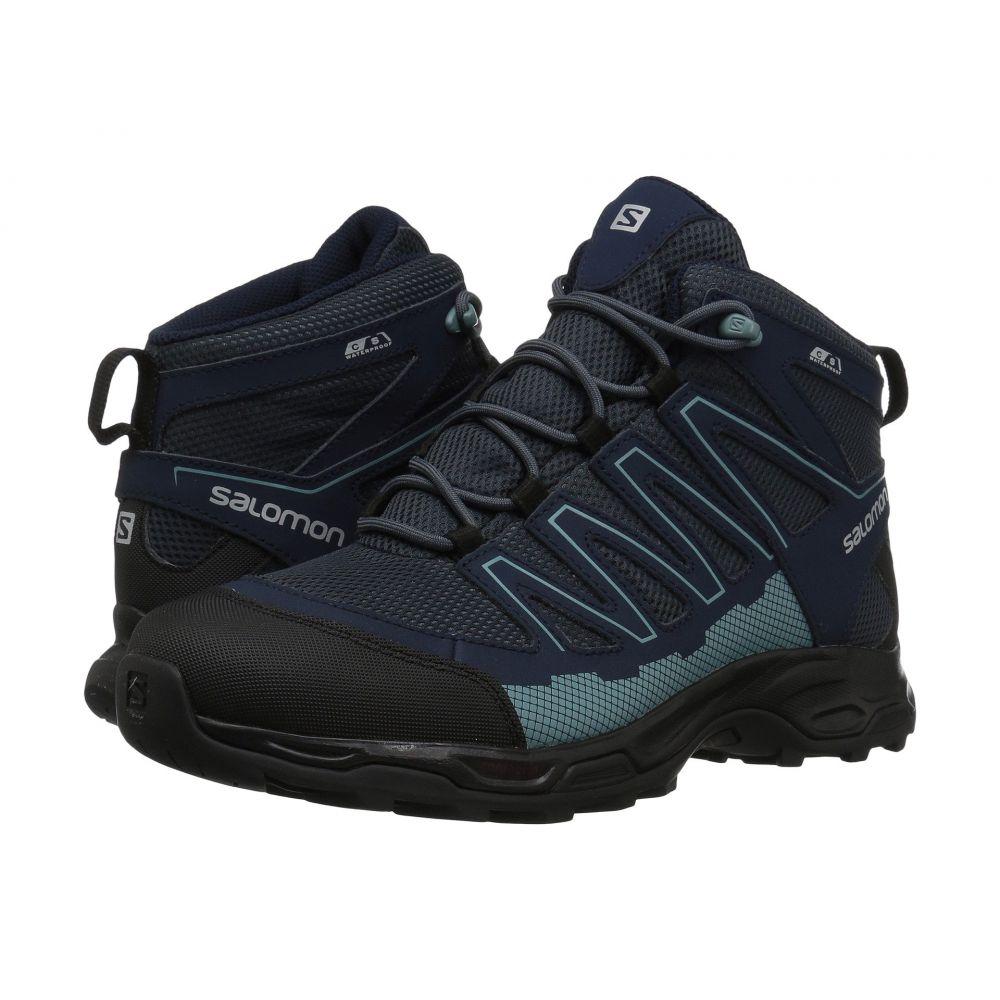 サロモン レディース ハイキング・登山 シューズ・靴【Pathfinder Mid CSWP】India Ink/Navy Blazer/Artic