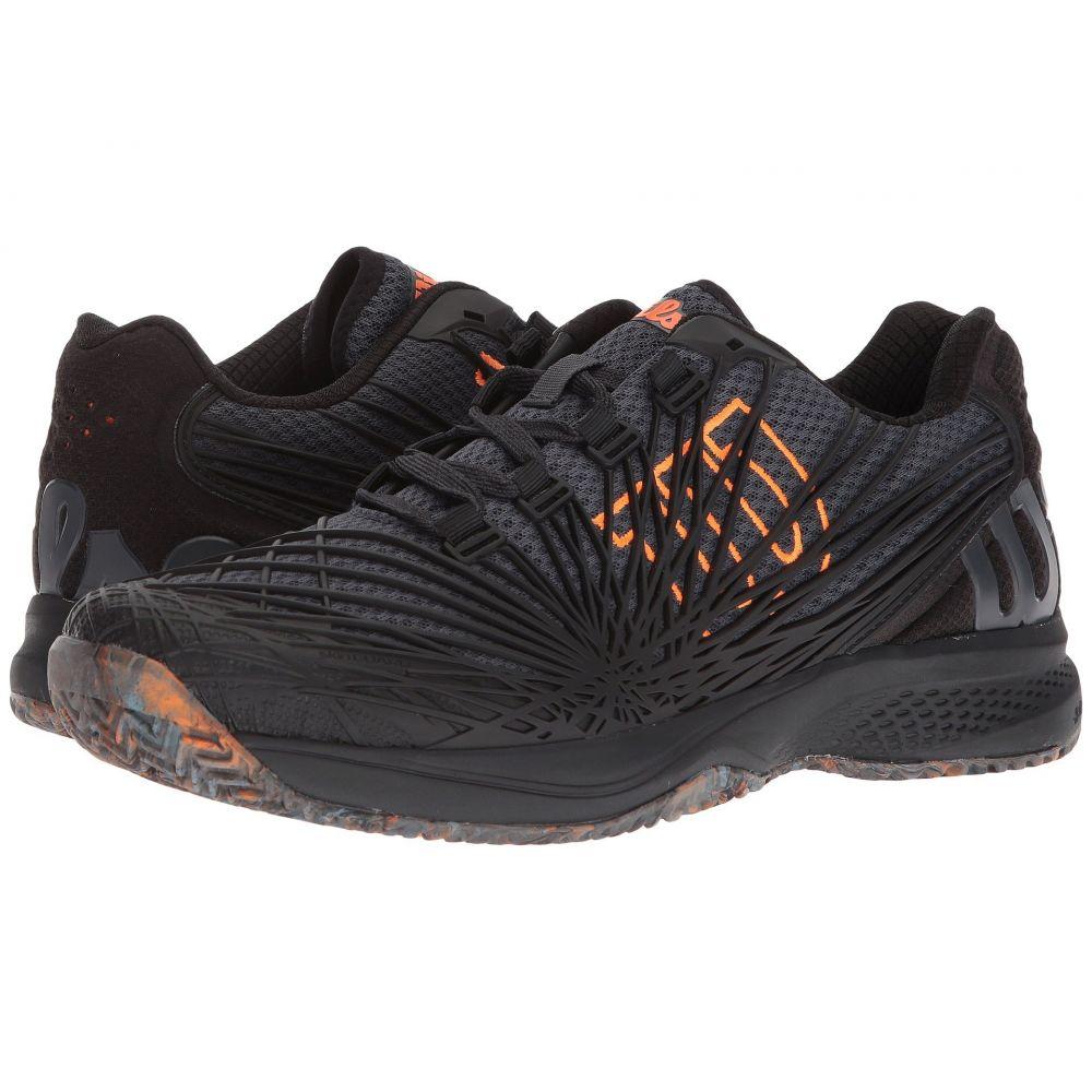 ウィルソン メンズ テニス シューズ・靴【Kaos 2.0】Ebony/Black/Shocking Orange
