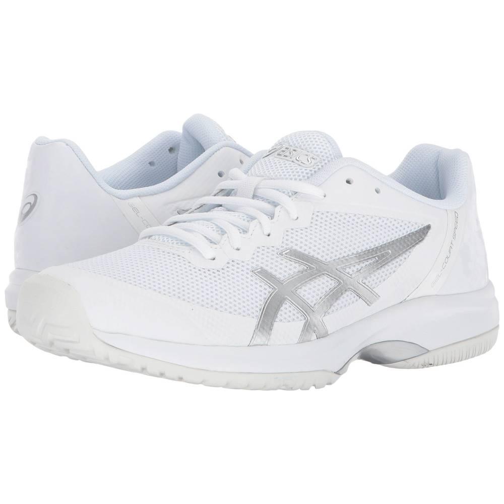 アシックス レディース テニス シューズ・靴【Gel-Court Speed】White/Silver