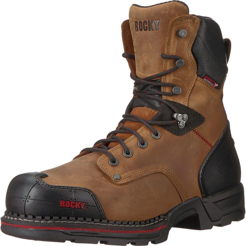 ロッキー メンズ シューズ・靴 ブーツ【8 Workmaxx Soft RVP WP】Brown