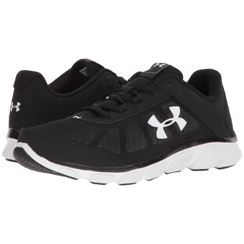 アンダーアーマー メンズ ランニング・ウォーキング シューズ・靴【UA Micro G Assert 7】Black/White/White