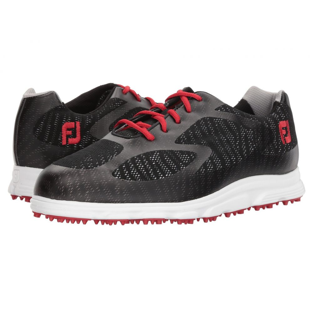 フットジョイ メンズ ゴルフ シューズ・靴【Superlite Spikeless Engineered Mesh】Black/Red Trim/White