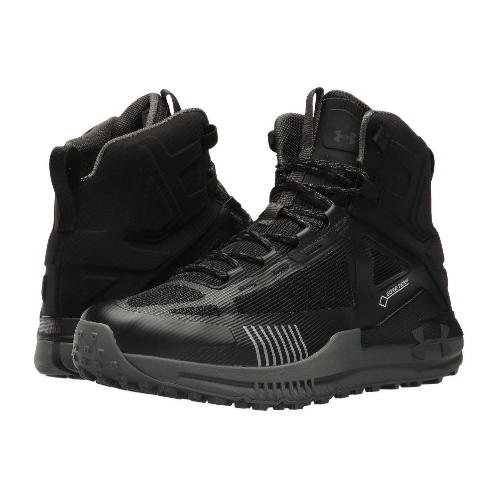 高質 アンダーアーマー メンズ ハイキング・登山 シューズ・靴【UA Verge 2.0 Mid GTX】Black/Black/Nori Green, きもの都粋 53f7c3f9