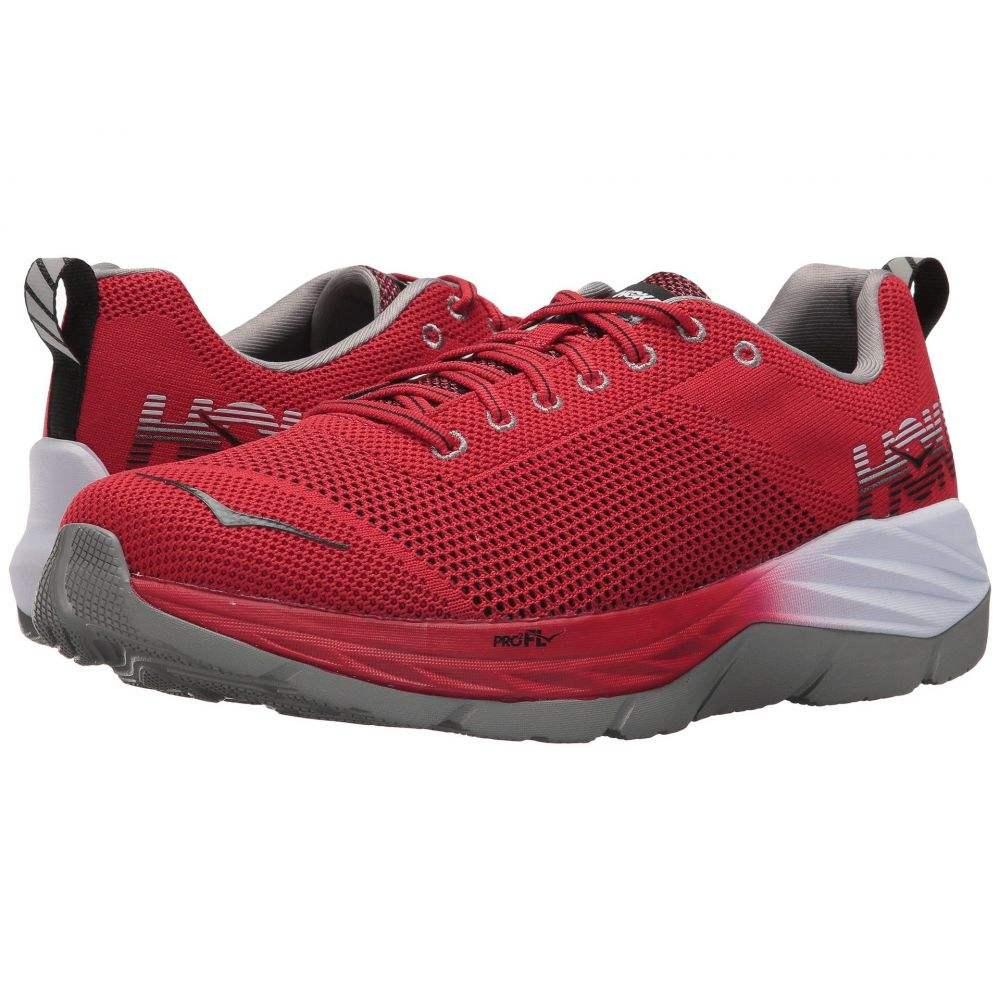 ホカ オネオネ メンズ ランニング・ウォーキング シューズ・靴【Mach】Racing Red/Black