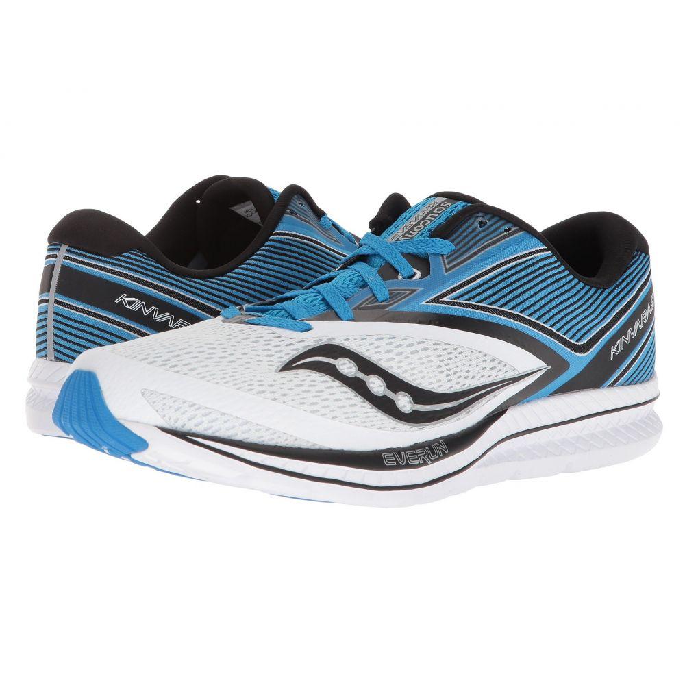 サッカニー メンズ ランニング・ウォーキング シューズ・靴【Kinvara 9】White/Blue/Black