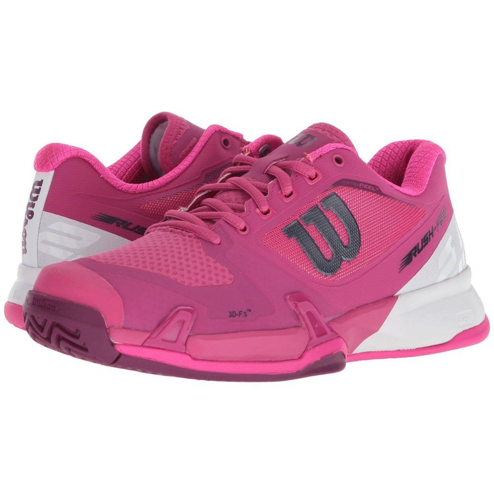 ウィルソン レディース テニス シューズ・靴【Rush Pro 2.5】Very Berry/White/Pink Glow