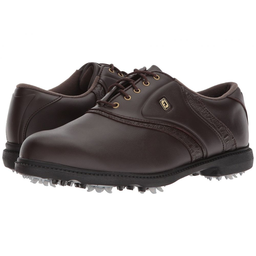 【コンビニ受取対応商品】 フットジョイ メンズ ゴルフ シューズ・靴【Originals Cleated Traditional Toe Cleated Plain Over Toe Saddle】All Over Dark Brown, ひろしまけん:95858724 --- canoncity.azurewebsites.net