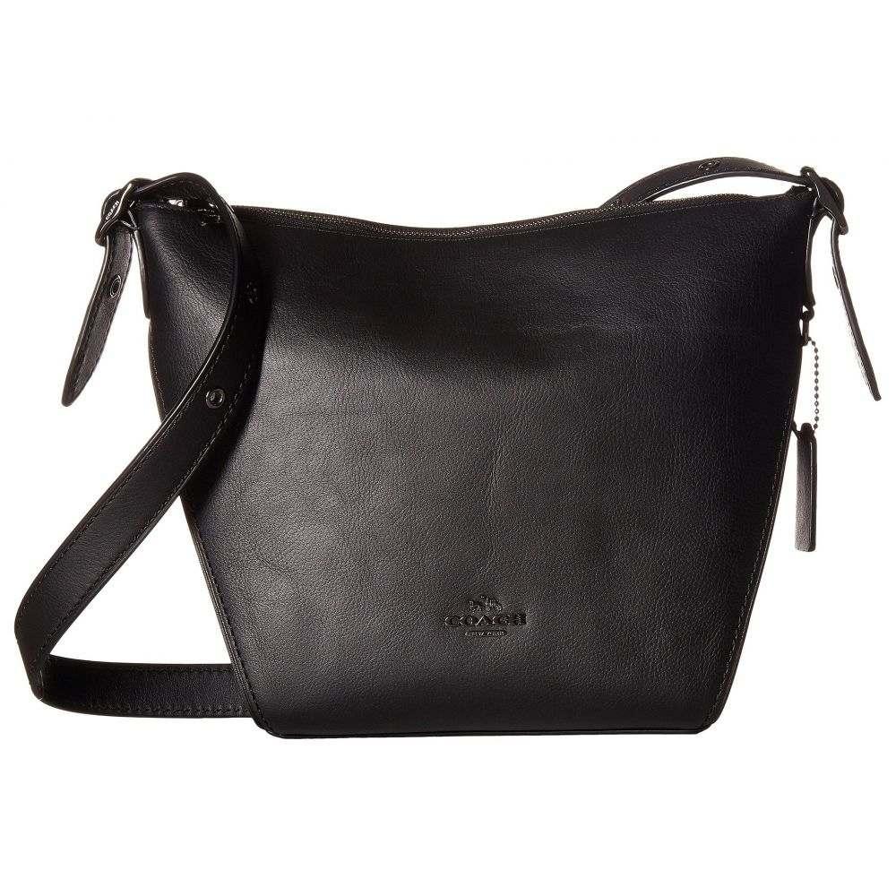 コーチ レディース バッグ ショルダーバッグ【Small Dufflette in Natural Calf Leather】DK/Black