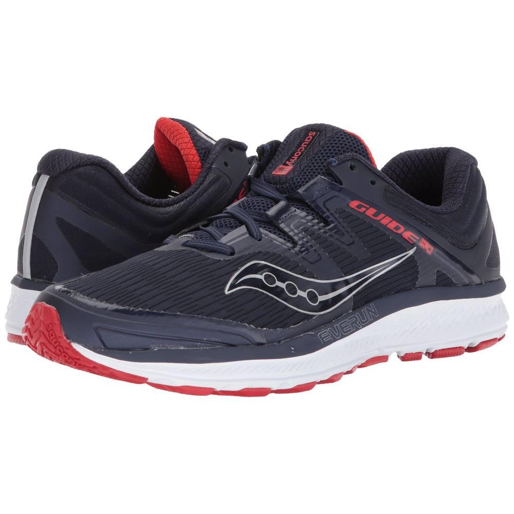 サッカニー メンズ ランニング・ウォーキング シューズ・靴【Guide ISO】Navy/Red