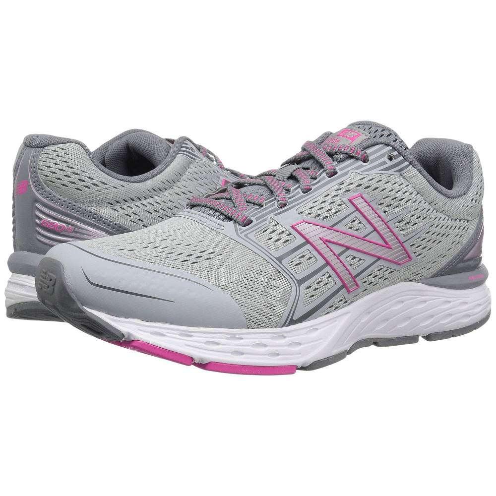 ニューバランス レディース ランニング・ウォーキング シューズ・靴【680v5】Silver Mink/Gunmetal/Pink Glo