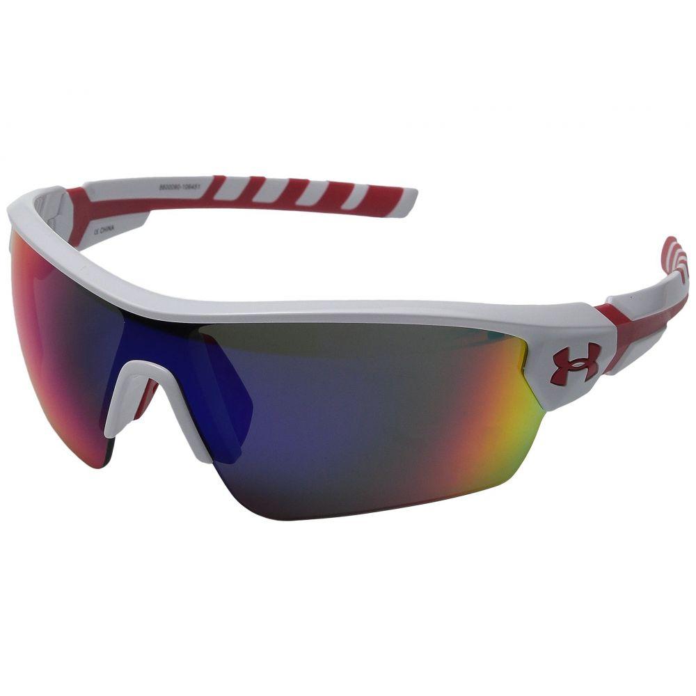 アンダーアーマー メンズ スポーツサングラス【UA Rival】Shiny White/Red Frame/Gray/Infrared Multiflection Lens