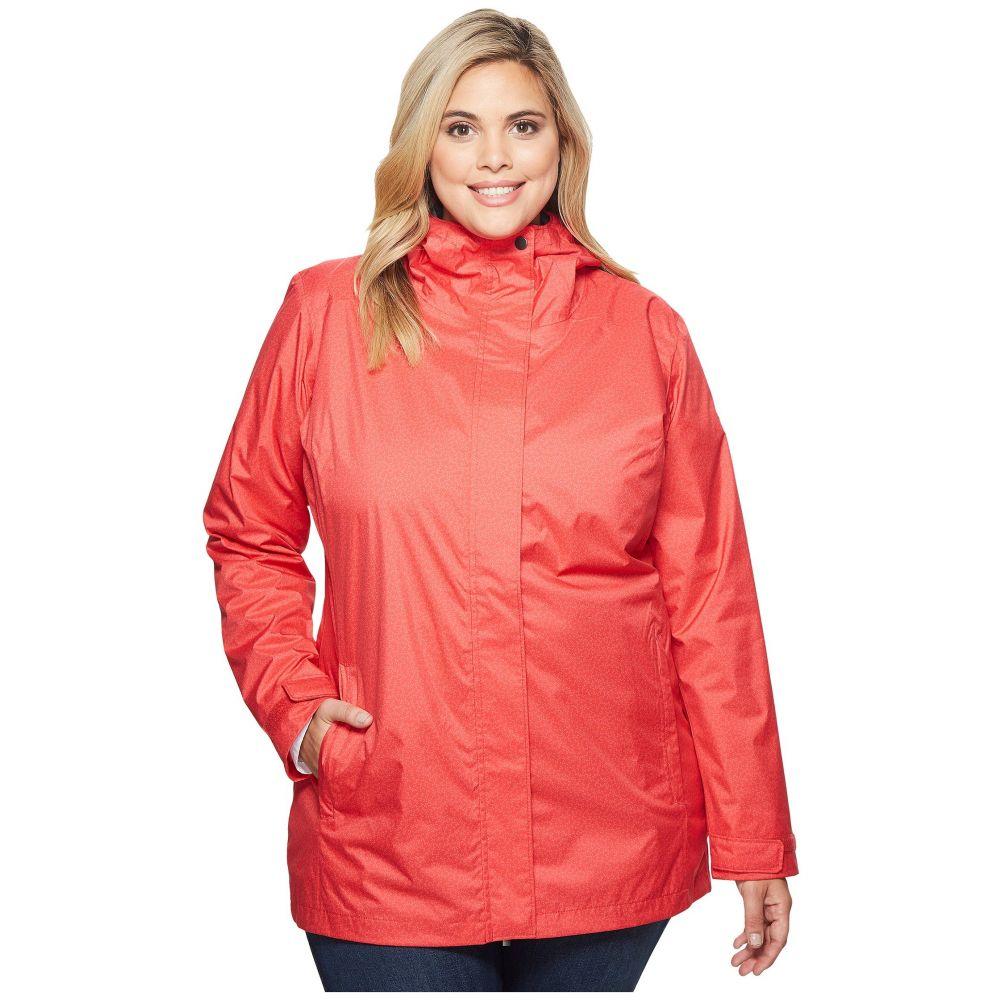 コロンビア レディース アウター レインコート【Plus Size Splash A Little II Jacket】Red Camellia Geo Lights Print