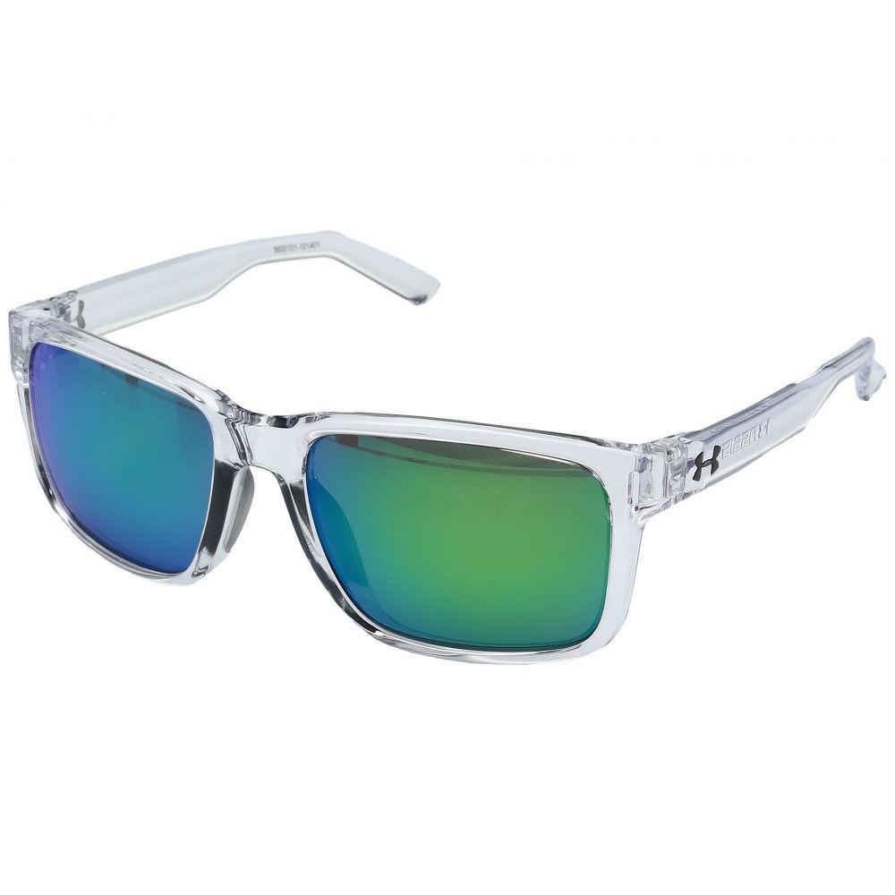 アンダーアーマー レディース メガネ・サングラス【Assist】Shiny Crystal Clear/Frosted Clear Frame/Gray/Green Multiflection