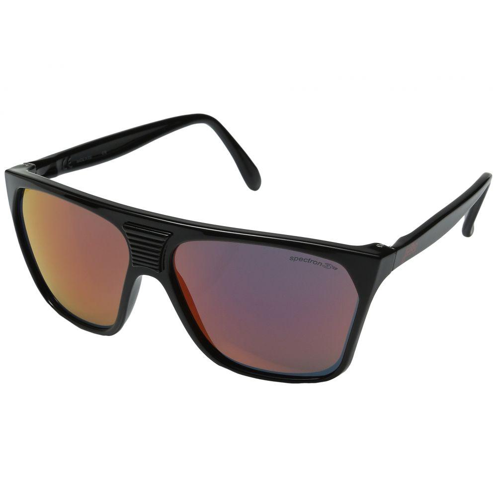 ジュルボ レディース スポーツサングラス【Cortina Vintage Sunglasses】Shiny Black with Spectron 3 Color Flash Lens