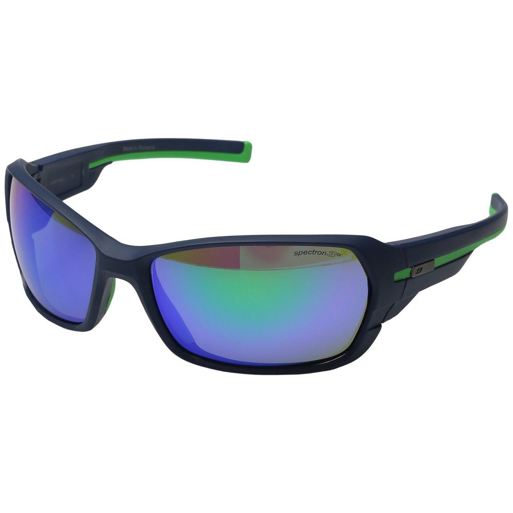 ジュルボ レディース スポーツサングラス【Dirt 2.0 Performance Sunglasses】Matte Dark Blue/Green with Spectron 3 Color Flash Lens