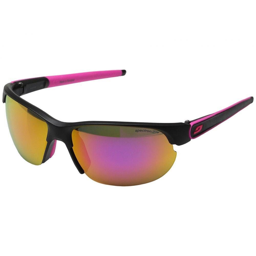 ジュルボ レディース スポーツサングラス【Breeze】Matte Black/Pink with Spectron 3 color flash Lens