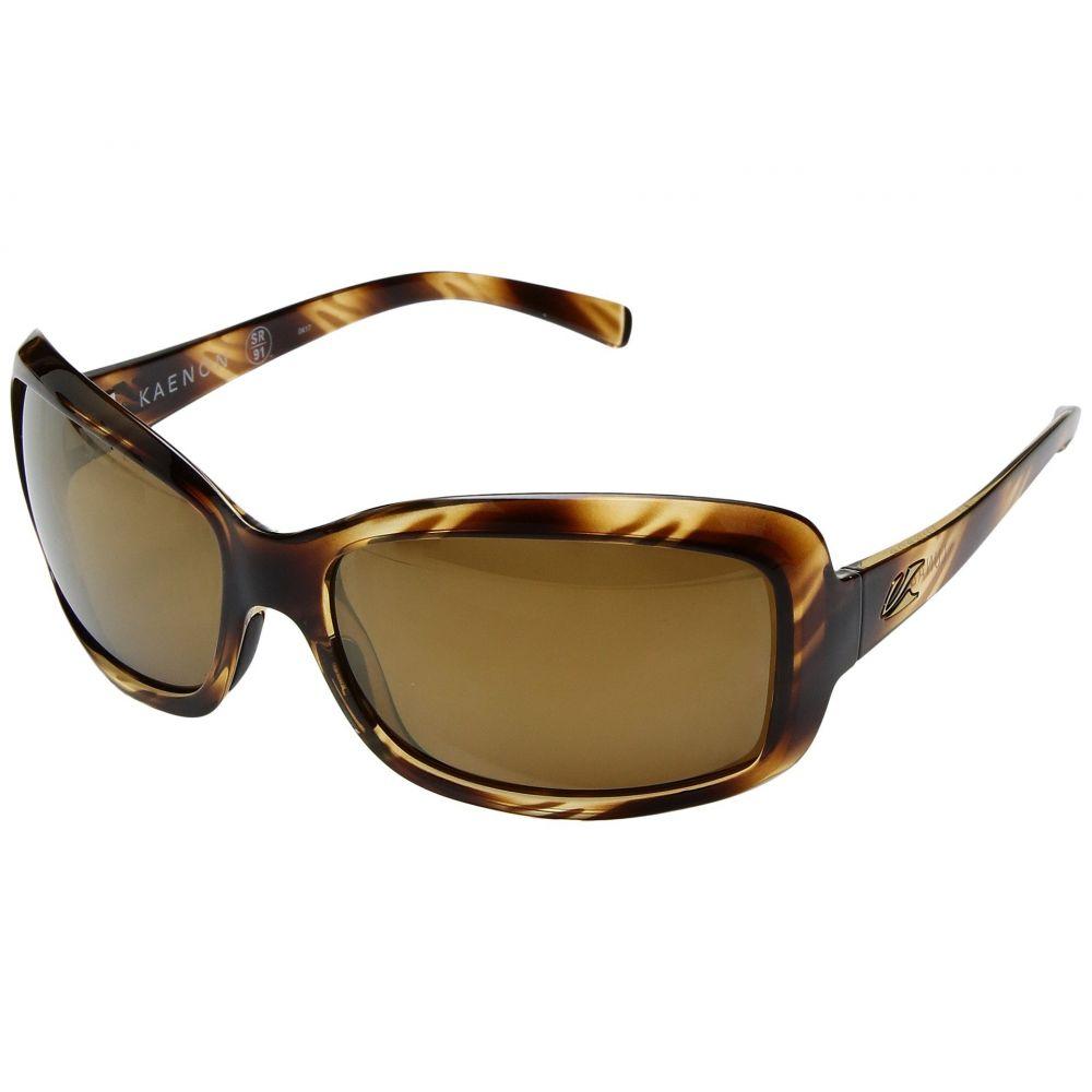 カエノン レディース スポーツサングラス【Lunada】Striped Tort/Brown 12 Polarized Gold Mirror