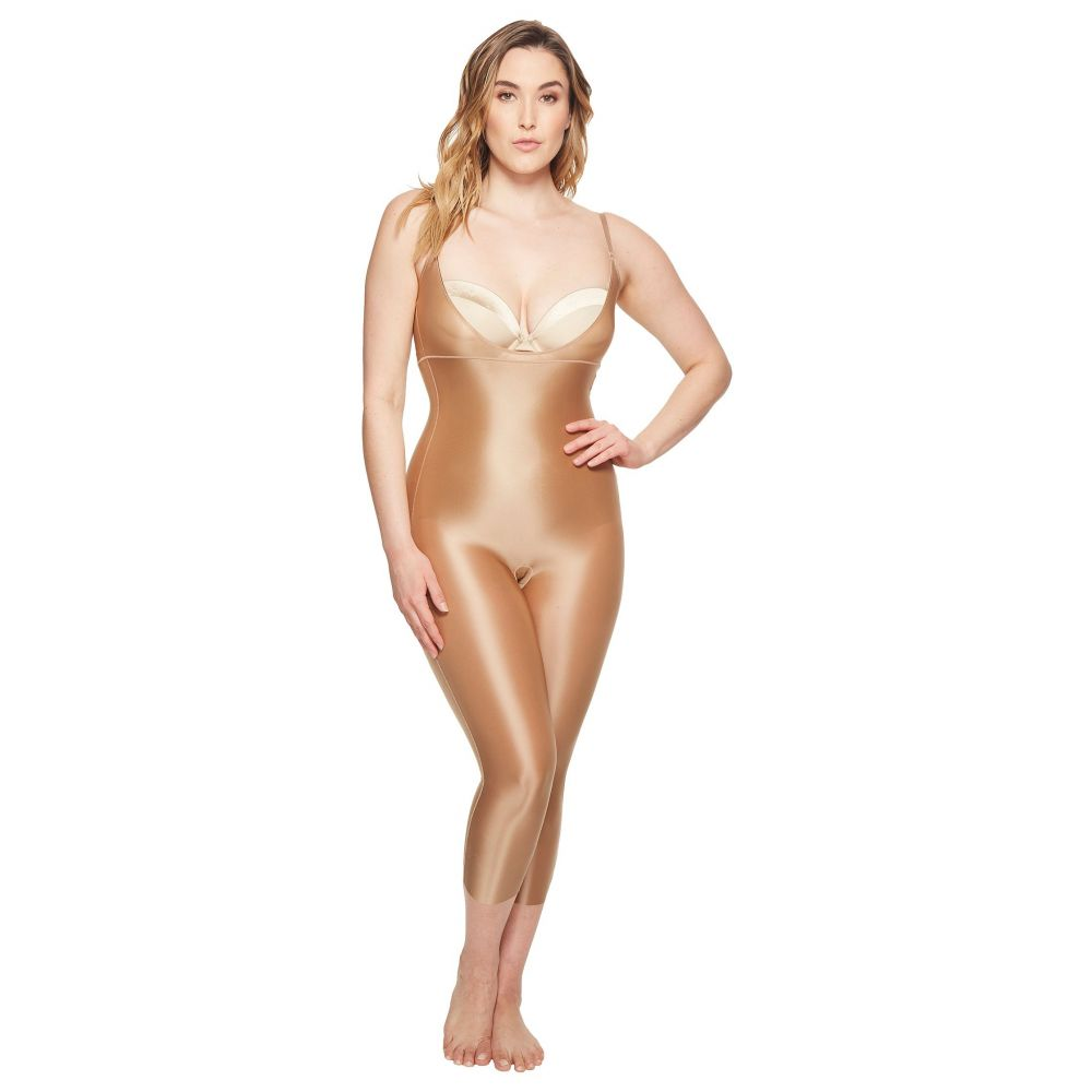 スパンクス レディース インナー・下着【Plus Size Suit Your Fancy Open-Bust Catsuit】Broadway Beige