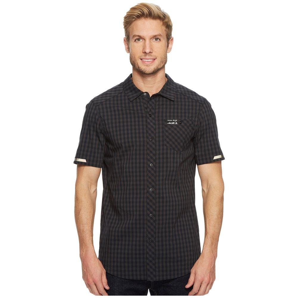 パールイズミ メンズ トップス Tシャツ【Short Sleeve Button Up】Black/Phantom Plaid