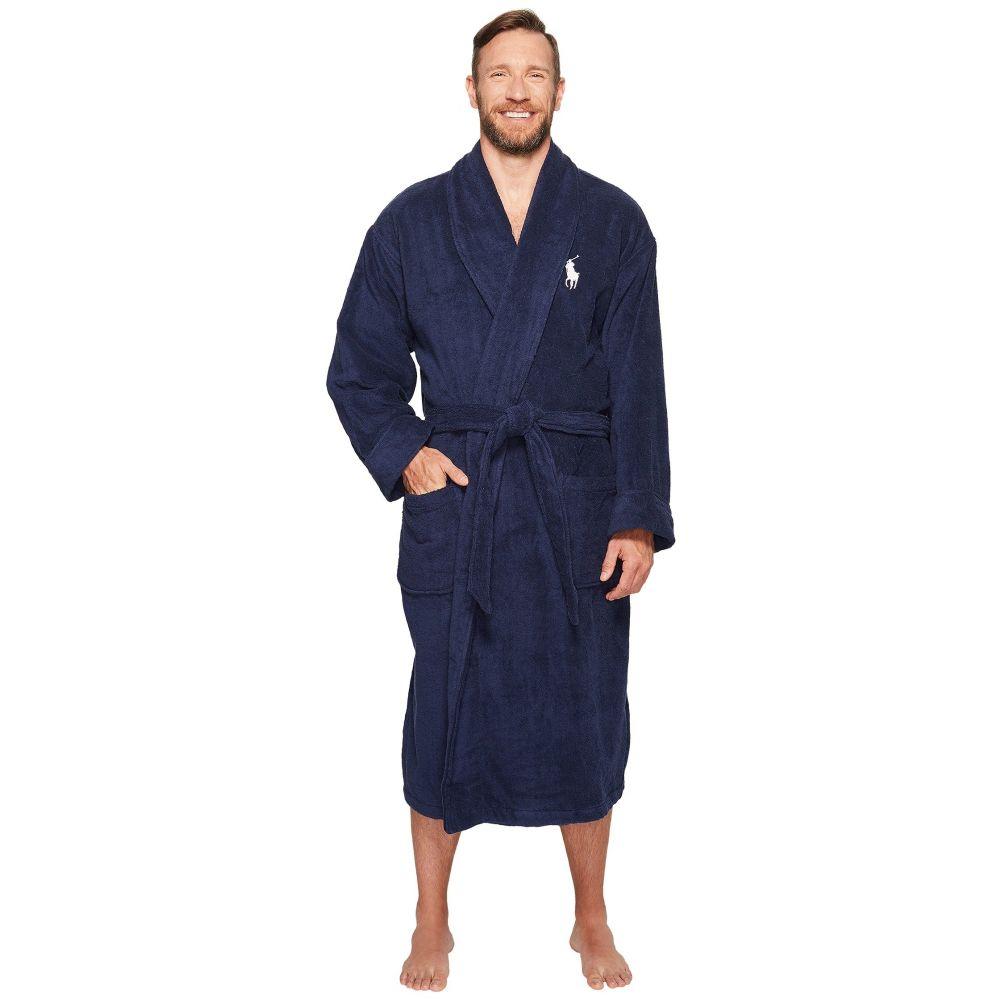 ラルフ ローレン メンズ インナー・下着 ガウン・バスローブ【Tall Velour Kimono Robe】Cruise Navy