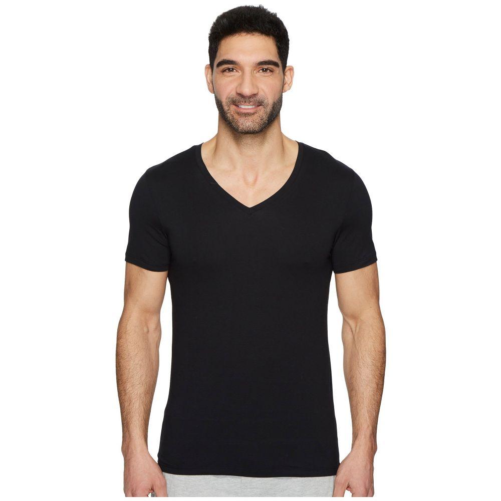 ハンロ メンズ トップス Tシャツ【Cotton Superior V-Neck Shirt】Black