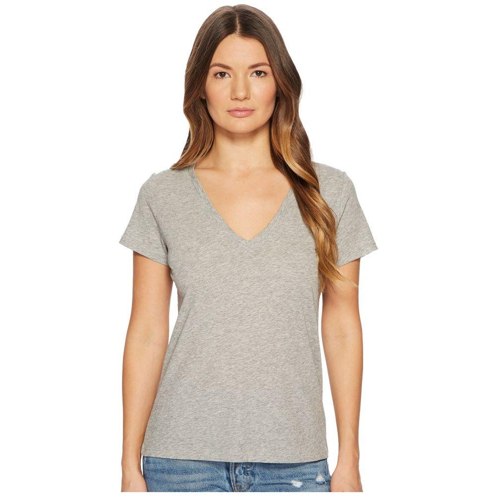ヴィンス レディース トップス Tシャツ【Essential V-Neck Top】Heather Grey