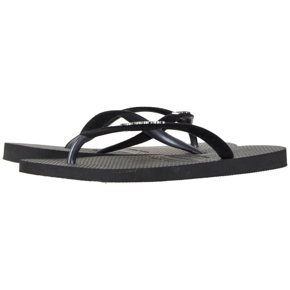 ハワイアナス レディース シューズ・靴 ビーチサンダル【Slim Velvet Flip-Flops】Black
