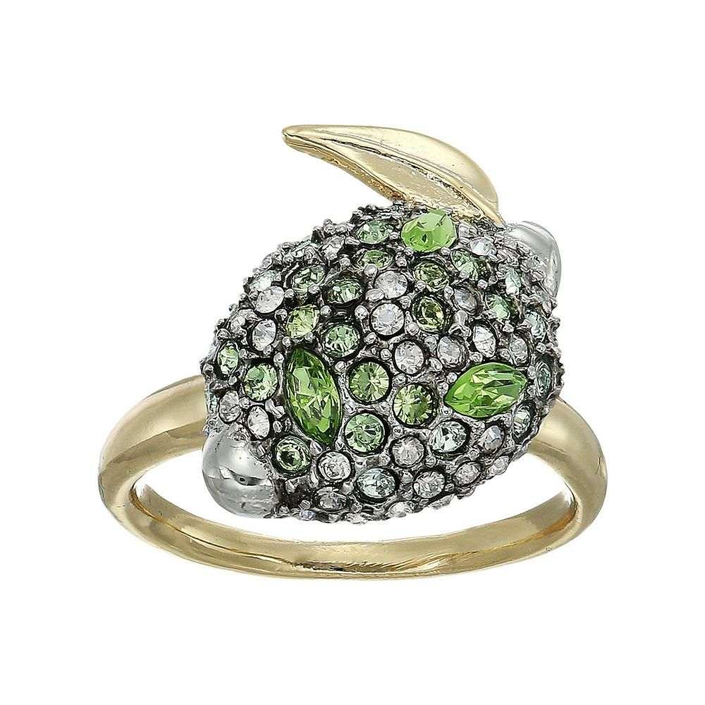アレクシス ビッター レディース ジュエリー・アクセサリー 指輪・リング【Crystal Encrusted Lime Ring】10K Gold/Antique Rhodium Accents