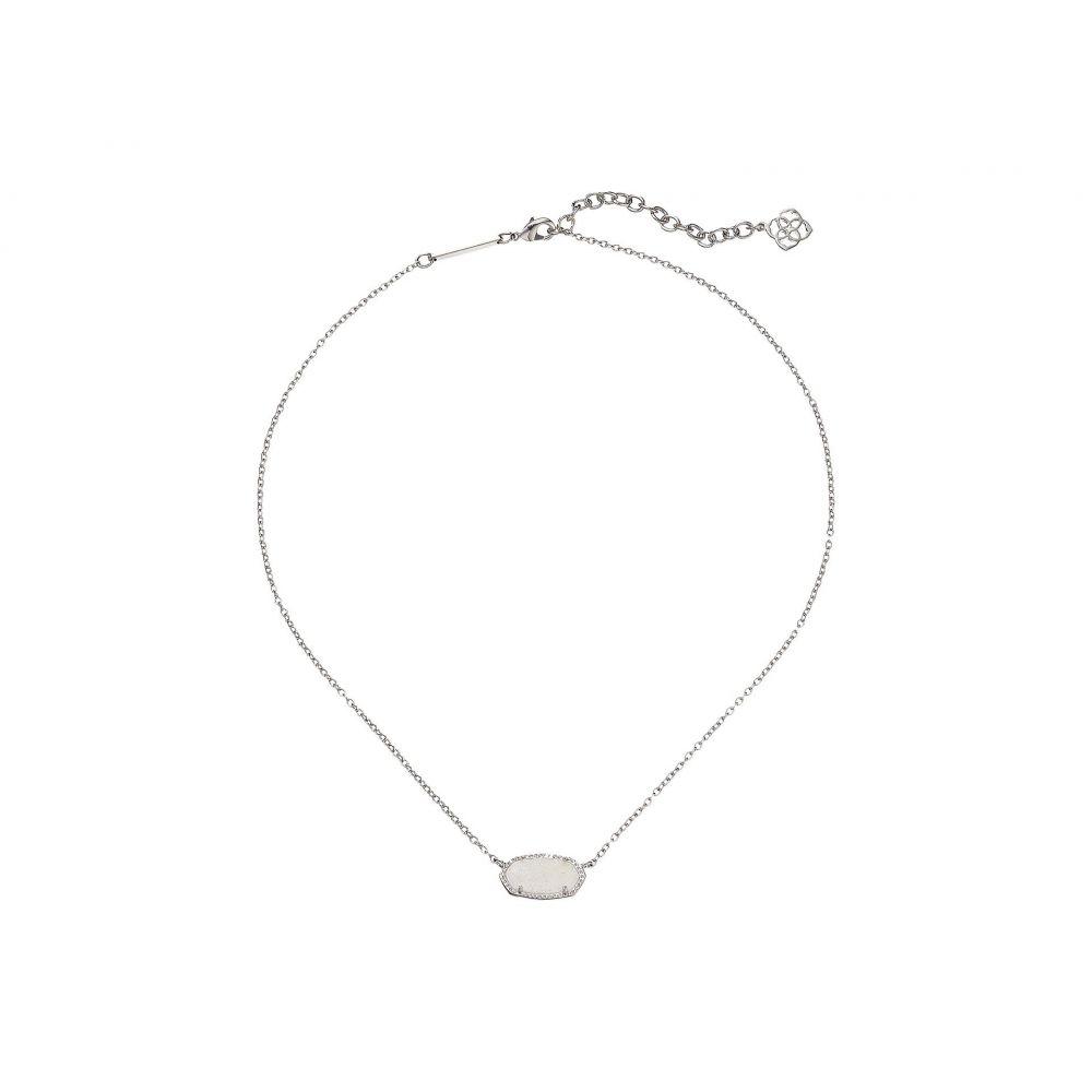 ケンドラ スコット レディース ジュエリー・アクセサリー ネックレス【Elisa Pendant Necklace】Rhodium/Iridescent Drusy