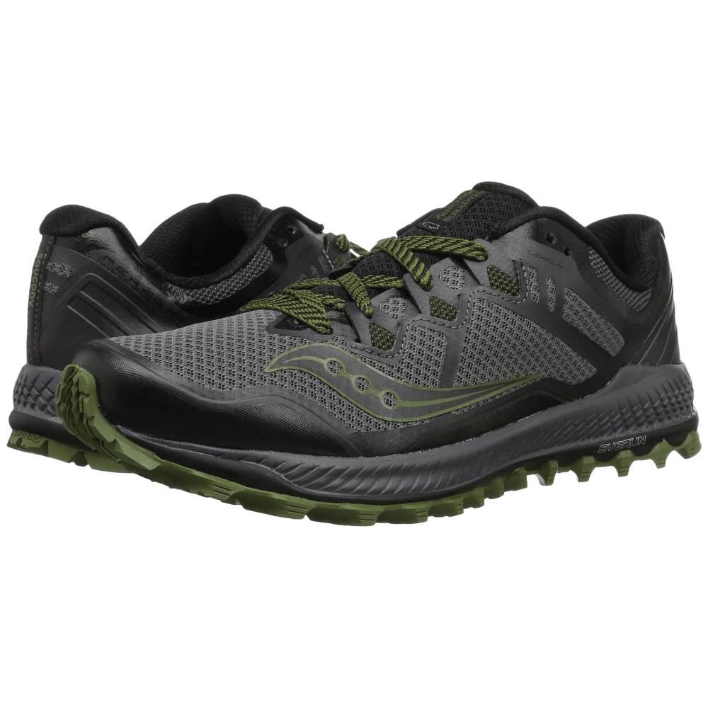 サッカニー メンズ ランニング・ウォーキング シューズ・靴【Peregrine 8】Grey/Black/Green