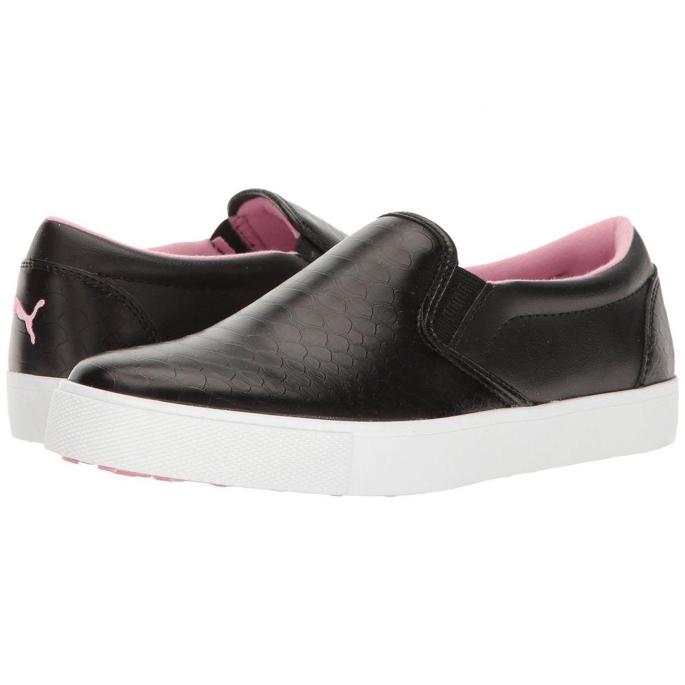 プーマ レディース ゴルフ シューズ・靴【Tustin Slip-On】Puma Black/Prism Pink