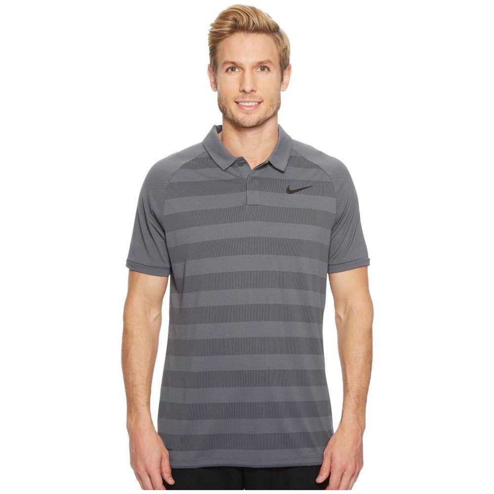 ナイキ メンズ トップス ポロシャツ【Zonal Cooling Stripe Polo】Dark Grey/Black/Flat Silver