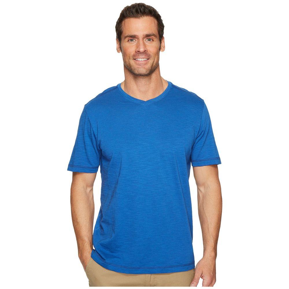 トミー バハマ メンズ トップス Tシャツ【Portside Palms V-Neck T-Shirt】Galaxy Blue