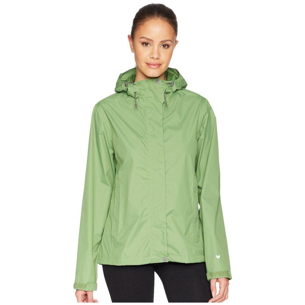 ホワイトシエラ レディース アウター レインコート【Trabagon Rain Shell】Fluorite Green