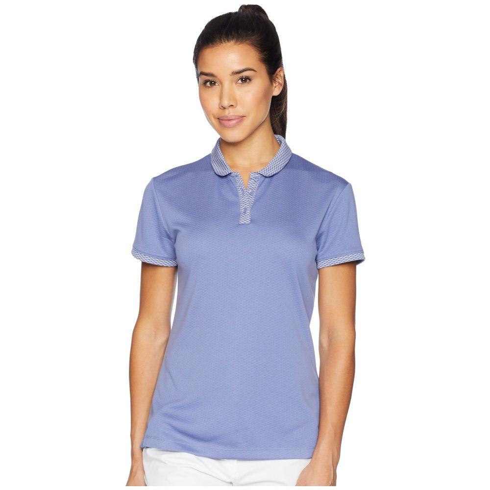 ナイキ レディース ゴルフ トップス【Dry Polo Short Sleeve Texture】Purple Slate/Flat Silver