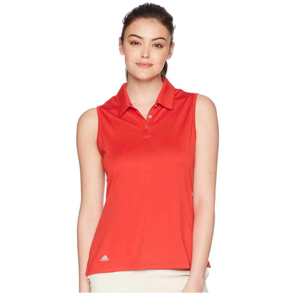 【50%OFF】 アディダス ゴルフ レディース ゴルフ アディダス トップス Red【Performance Sleeveless Polo】Collegiate Red, Smile Garden&EX:205c982a --- canoncity.azurewebsites.net