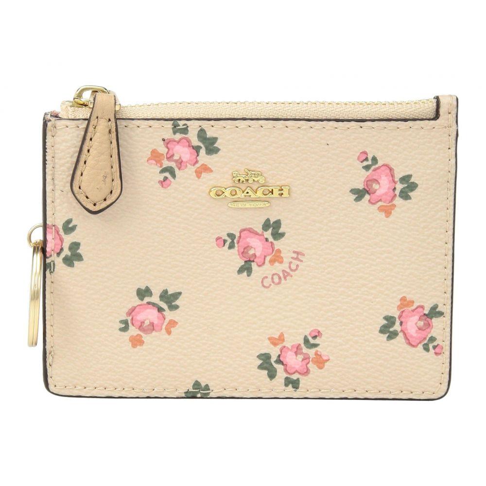 コーチ レディース カードケース・名刺入れ【Floral Bloom Mini ID Skinny】LI/Beechwood Floral Bloom