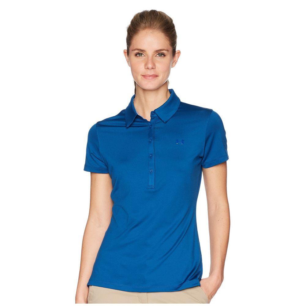 アンダーアーマー レディース ゴルフ トップス【Zinger Polo】Moroccan Blue/Moroccan Blue/Moroccan Blue