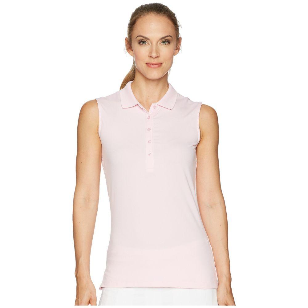 キャロウェイ レディース ゴルフ トップス【Opti-Dri Micro-Hex Sleeveless Polo】Pink Lady