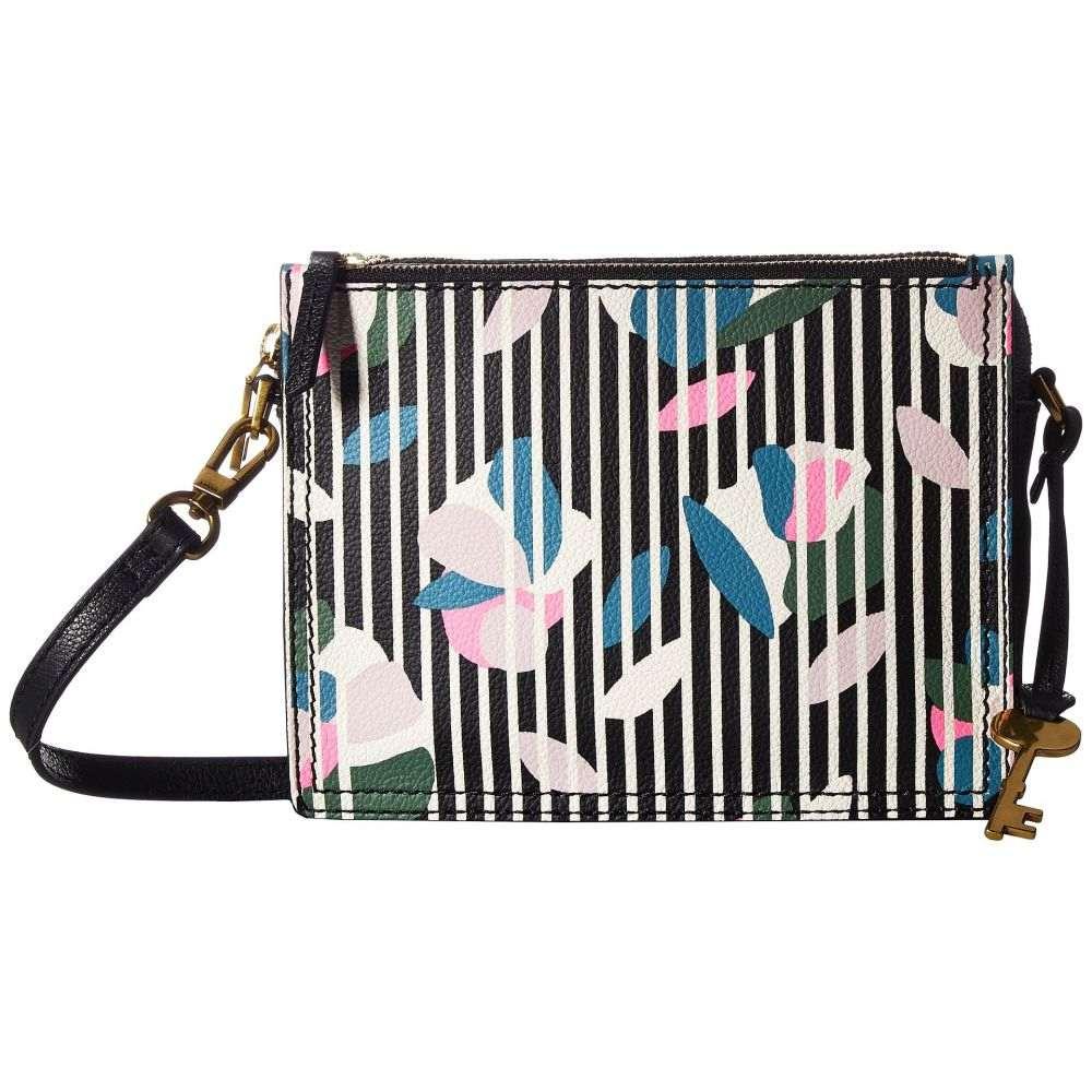 フォッシル レディース バッグ ショルダーバッグ【Campbell Crossbody】Black Stripe Floral
