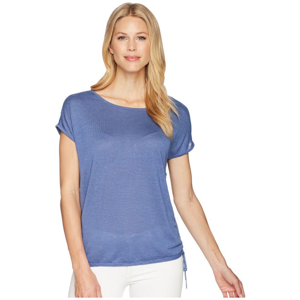ニックゾー レディース トップス Tシャツ【Refreshing Side Tie Top】Mosaic Blue