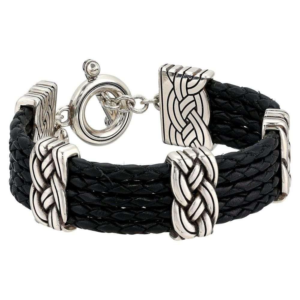 ブライトン レディース ジュエリー・アクセサリー ブレスレット【Interlok Multi Row Leather Bracelet】Black