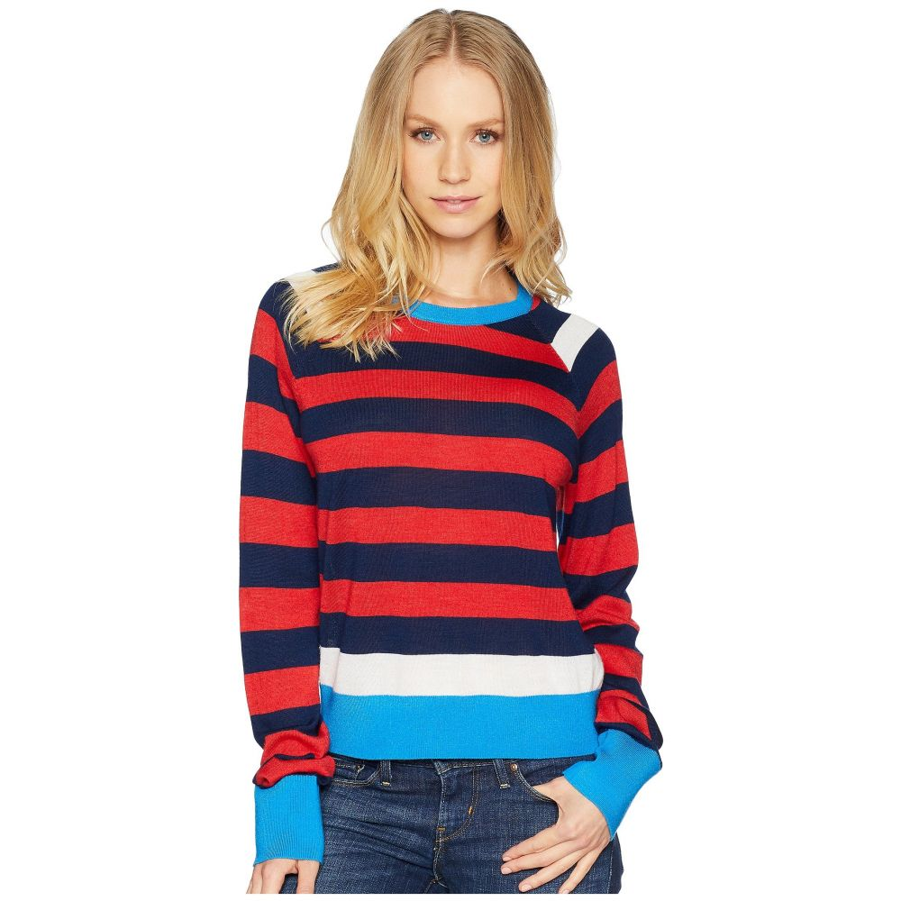 エキプモン レディース トップス ニット・セーター【Axel Cropped Sweater Stripe】Ribbon Red Multi